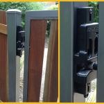 gold-border-black-EZ-Latch-on-Unique-Gate