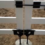 white-double-gate-black-ground-anchor