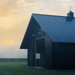 black 4 and barn in NC