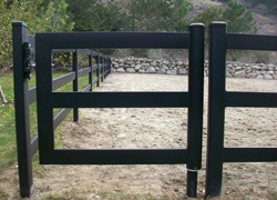 Black Steel Board Gate, 4 Foot, 3 Rail