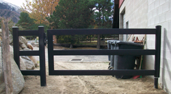 Black Steel Board Gate, 8 Foot, 3 Rail