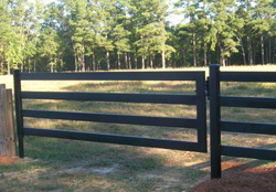 Black Steel Board Gate, 12 Foot, 4 Rail