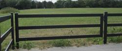 Black Steel Board Gate, 12 Foot, 3 Rail