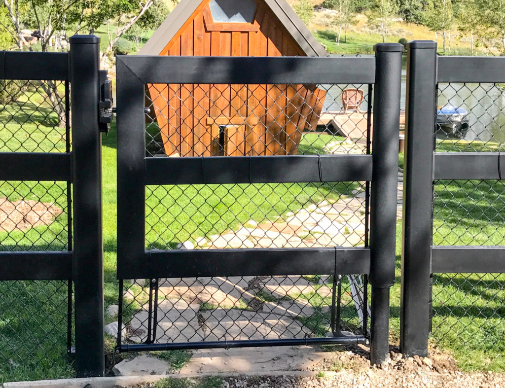 Wire Mesh Mounting System For Gates Horse Fencing