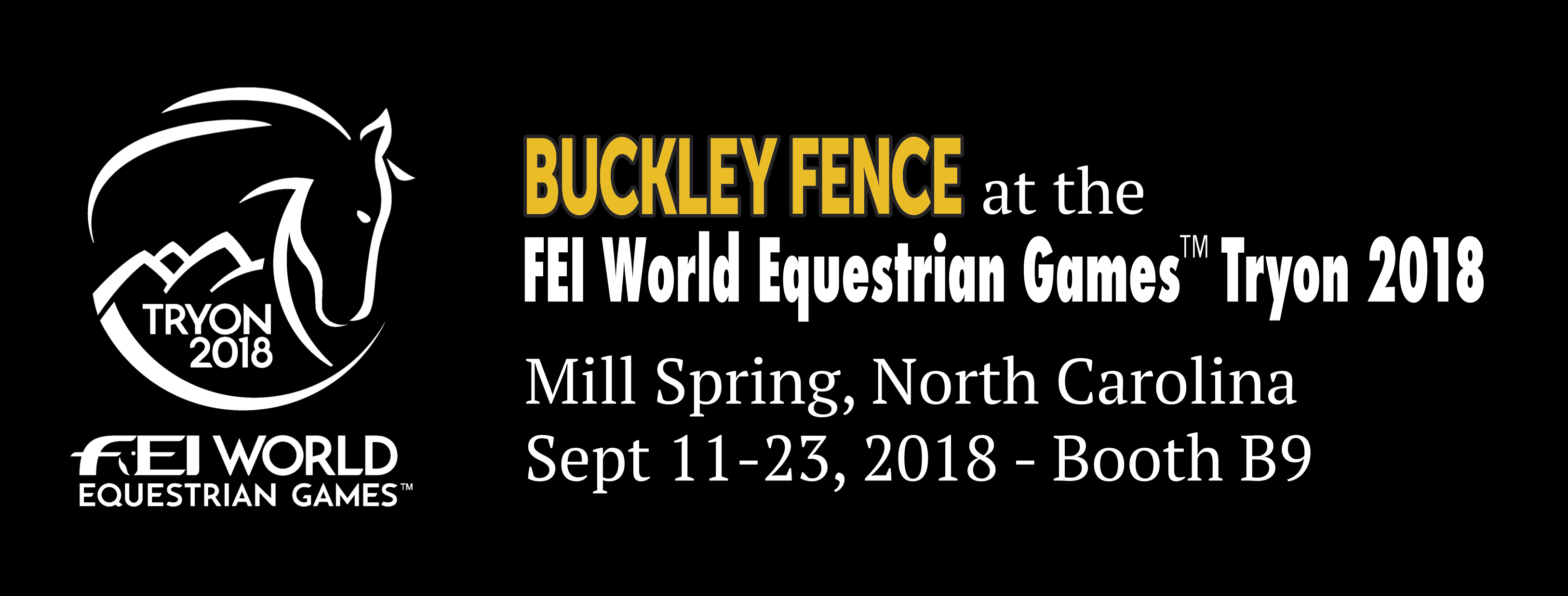Come See Us! FEI World Equestrian Games Tryon 2018